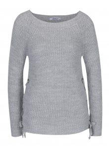Světle šedý svetr s rozparky Haily´s Dani