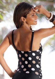 LASCANA Plavky s kosticemi Lascana černá s potiskem - Košíček B 36