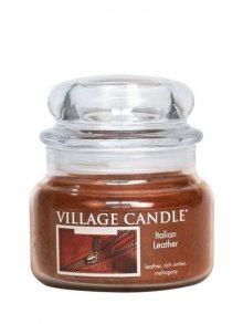 Village Candle Vonná svíčka ve skle, Italská Kůže - Italian Leather 11 oz\n\n