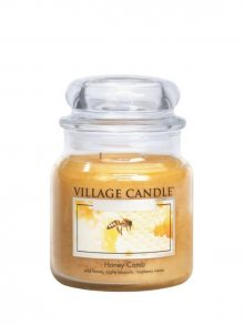 Village Candle Vonná svíčka ve skle, Medový Sen - Honey Comb 16 oz\n					\n