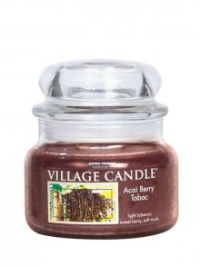 Village Candle Vonná svíčka ve skle, Tabák a Plody Akai - Acai Berry Tobac 11 oz\n\n