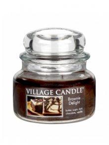 Village Candle Vonná svíčka ve skle, Čokoládový dortík - Brownies Delight, 11oz\n\n