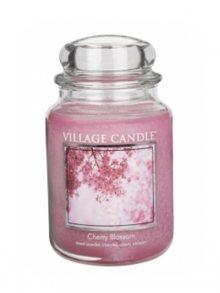 Village Candle Vonná svíčka ve skle, Třešňový květ - Cherry Blossom, 26oz\n\n