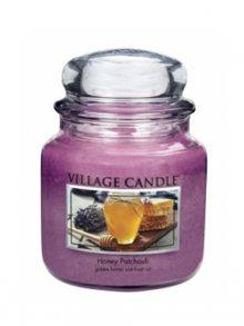 Village Candle Vonná svíčka ve skle, Med a pačuli - Honey Patchouli, 16oz\n\n