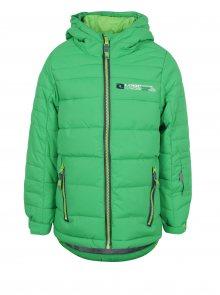 Zelená klučičí zimní funkční voděodolná bunda LOAP Ortel