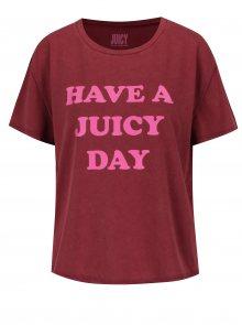 Vínové tričko s potiskem Juicy Couture