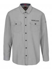 Světle šedá pánská košile s.Oliver