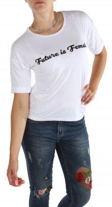 Dámské bílé tričko s nápisem Cache Cache II. jakost