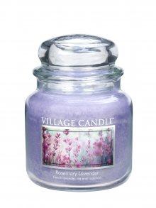 Village Candle Vonná svíčka ve skle, Rozmarýn a levandule\n\n