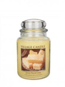 Village Candle Vonná svíčka ve skle, Citrónový koláč - Lemon Pound Cake 26 oz\n\n
