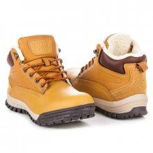 Pohodlné hnědé pánské kotníkové boty