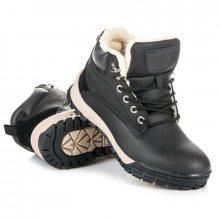 Pohodlné černé pánské kotníkové boty